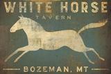 White Horse Running Poster by Ryan Fowler