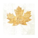 Bronzed Leaf IV Premium Giclee Print by Sue Schlabach