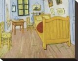 The Bedroom, 1888 Bedruckte aufgespannte Leinwand von Vincent van Gogh