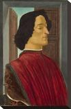 Giuliano de Medici, c. 1478-1480 Toile tendue sur châssis par Sandro Botticelli