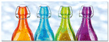Coloured Bottles Affischer
