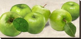 Green Apples Stretched Canvas Print by Remo Barbieri