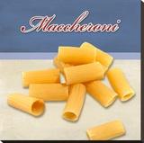 Maccheroni Stretched Canvas Print by Remo Barbieri
