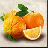 Oranges Stretched Canvas Print by Remo Barbieri