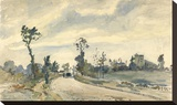Louveciennes, Route de Saint-Germain Toile tendue sur châssis par Camille Pissarro