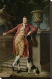 Portrait of John Talbot, later 1st Earl Talbot Opspændt lærredstryk af Pompeo Batoni
