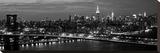 Midtown Manhattan and Williamsburg Bridge Sträckt kanvastryck av Richard Berenholtz
