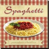 Spaghetti Stretched Canvas Print by Remo Barbieri