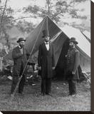 President Lincoln on the Battlefield of Antietam, Maryland, October 2, 1862 Opspændt lærredstryk af Alexander Gardner