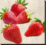 Strawberries Stretched Canvas Print by Remo Barbieri
