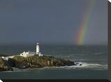 Rainbow over Fanad-Head, Ireland Opspændt lærredstryk af Jean Guichard
