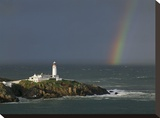 Rainbow over Fanad-Head, Ireland Stretched Canvas Print by Jean Guichard