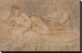 The Remedy Opspændt lærredstryk af Jean-Antoine Watteau
