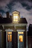 Night Scene with House Photographic Print by Jody Miller