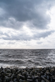 Graphically Structured View across the River Elbe in Northern Germany Photographic Print by Torsten Richter