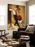 Dancing with a dog Affischer av Steven Lamb