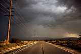 Tarmac Road Disappearing into Distance in USA Photographic Print by Jody Miller