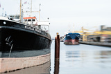 Two Ships in an Industrial Harbour on a Sunny Day Photographic Print by Torsten Richter