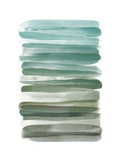 Watercolor Stripes A Premium Giclee Print by  THE Studio