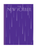 Prince Purple Rain New Yorker Magazine Cover - May 2, 2016 Giclee Print by Bob Staake