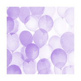 Airy Balloons in Purple A Premium Giclee Print by  THE Studio