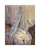 The Cradle - Camille with the Artist's Son Jean, 1867 Premium Giclee Print by Claude Monet