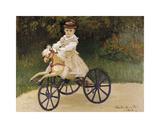 Jean Monet on his Hobby Horse, 1872 Premium Giclee Print by Claude Monet