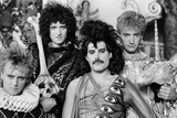 Queen Making Music Video 1984 Fotografisk tryk af Mike Maloney