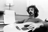 Frank Zappa, Pictured in London in 1971 Fotografisk tryk af Bill Rowntree