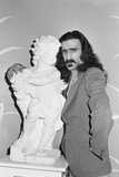 Frank Zappa Pictured at the Dorchester Hotel in London. Fotografisk tryk af Arthur Sidey