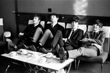Beatles at Prince of Wales Theatre in London taking a Break During Rehearsals, Nov 1963 Fotoprint van Roy Illingworth
