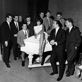 Shirley Bassey and the Liverpool Team Photographic Print by  Sayle
