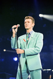David Bowie at Freddie Mercury Tribute Concert for AIDS Awareness, Wembley Stadium, April 1992 Impressão fotográfica