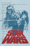 Star Wars- Han And Chewbacca Script Page Pôsters