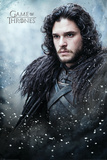 Game Of Thrones- Jon Snow In Winter Affiche