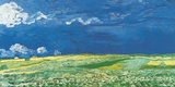Van Gogh- Wheat Field Under A Cloudy Sky Posters by Vincent van Gogh