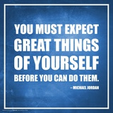 Michael Jordan- Expect Great Things Pôsters