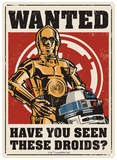 Star Wars - Droids Plaque en métal