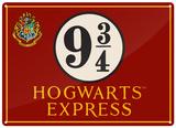 Harry Potter - Hogwarts Express Carteles metálicos