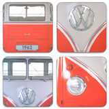Volkswagen - Red Van Coasters Set of 4 Drikkebrikker