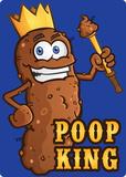 Poop King Placa de lata