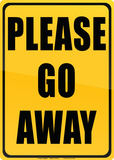 Please Go Away Carteles metálicos