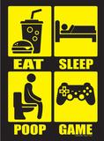Eat Sleep Poop Repeat Plaque en métal