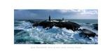 Phare De Slyne Head, Galway, Irlande Giclée-tryk af Jean Guichard