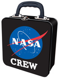 NASA Embossed Crew Tin Tote Lunch Box