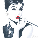 Audrey Hepburn Print by Bob Celic