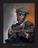 Blues Man Prints by  BUA
