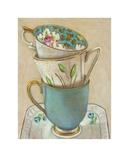 3 Cups on Saucer Kunstdrucke von Andrea Letterie