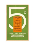 5d Your Fare to: Victoria Prints by  Transport for London