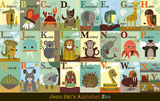 Alphabet Zoo|Alphabet Zoo Posters av Jenn Ski